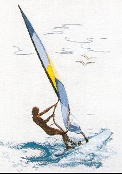 Wind surfing by Thea Gouverneur