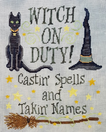 Waxing Moon Designs Witch on duty
