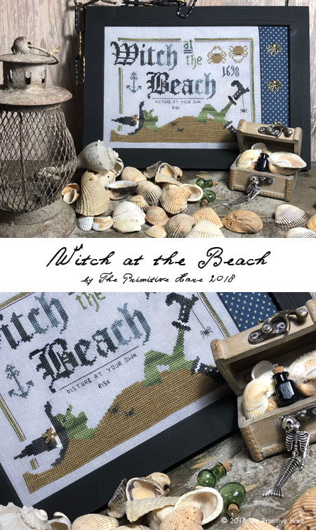 Witch at the beach by The Primitive Hare