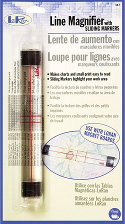 Line magnifier with sliding marker by Lo Ran