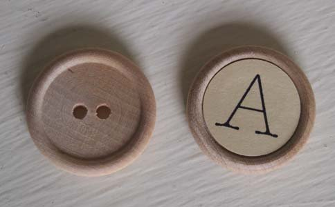 SamSarah Design Studio - Wooden Button Letters