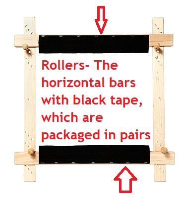 8 Rollers Slate / Tenter Frames