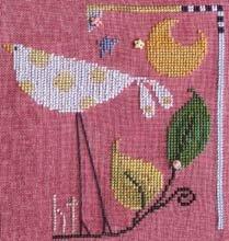 The Flock Yellow polka dot bird by Samsarah Design Studio
